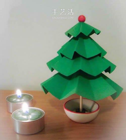 纸艺圣诞树的制作,幼儿园必做