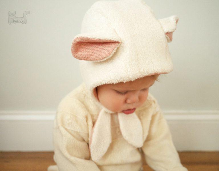 小羊羔帽子,宝宝帽子制作,可爱呆萌