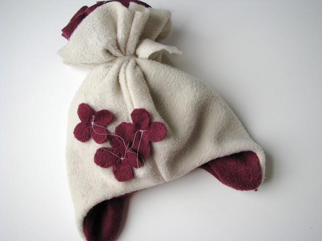 儿童护耳帽的制作,冬款帽子,非常简易