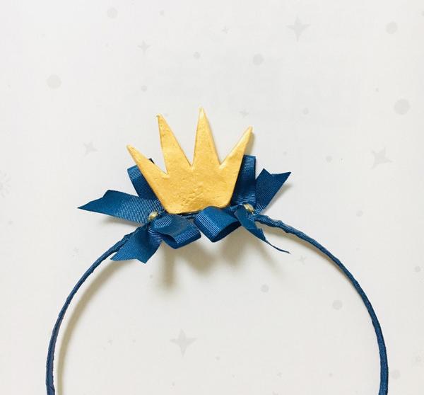 儿童公主发箍发夹的制作方法