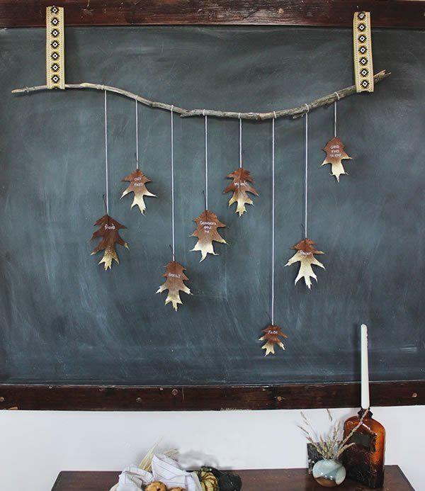 美丽的树叶挂饰,手工制作窗帘挂饰