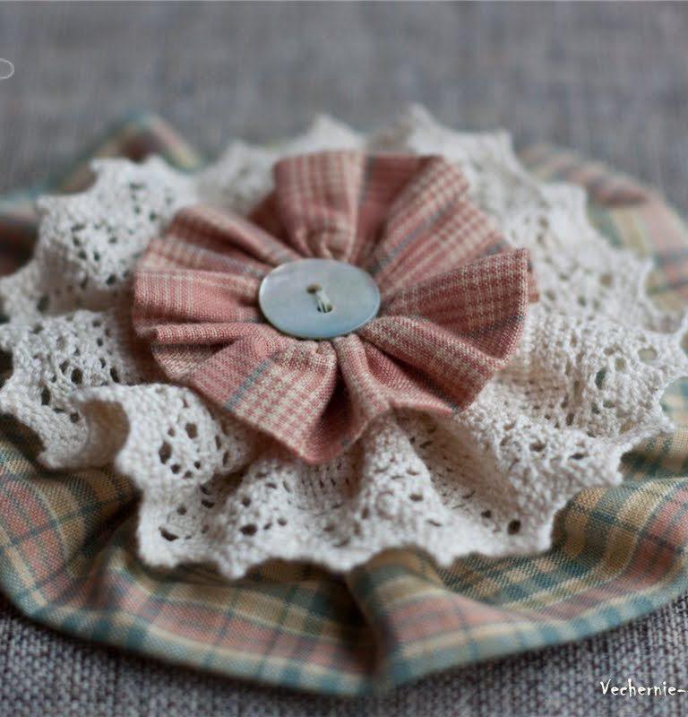 日式立体布艺花朵装饰制作,可用于服装,配饰等