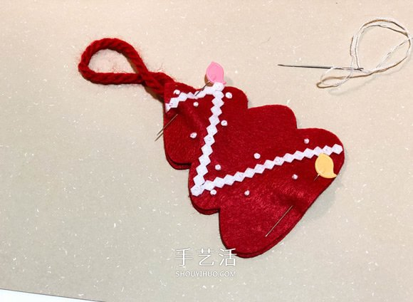 不织布手工制作超可爱圣诞树挂件图解