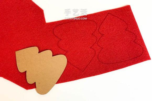 不织布手工制作超可爱圣诞树挂件图解 -