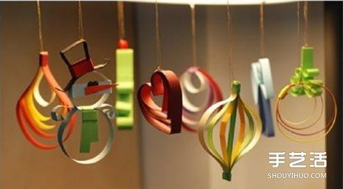 幼儿园圣诞树挂饰,纸艺小挂饰,好看